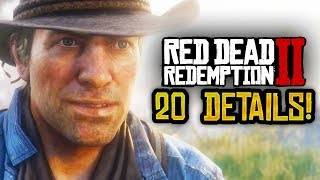 RDR2 - Here's 20 NEW Red Dead Redemption 2 Details You Need To Know! (INSANE!)