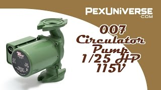 007 Circulator Pump, 1/25 HP, 115V