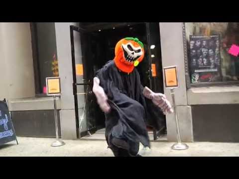 Ben Aaron Becomes A Halloween Decoration, And Scares Everybody!