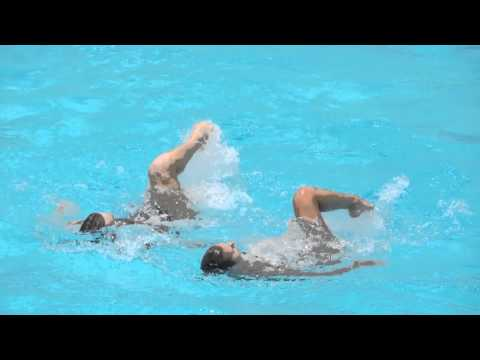 synchronized swimming mixed duet russia 2016 in brazil. Swan Lake
