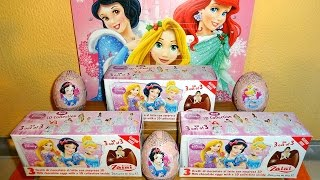 Princess 9 Surprise Eggs New 3D Crystal Toys Collection Unboxing Huevos Sorpresa