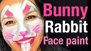 How to face paint bunny rabbit face Bunny Rabbit Face Paint Class