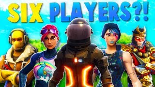 6 PLAYERS in ONE SQUAD?! (Fortnite Funny Moments)