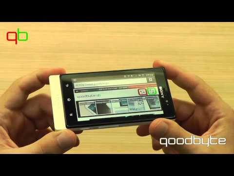 [goodbyte.tv] Sony Xperia sole. Hands-on video review [greek]