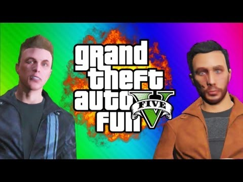 GTA 5 Online Funny Moments Gameplay 4 - News Report, Planes, Car Sticky Bomb (Multiplayer)