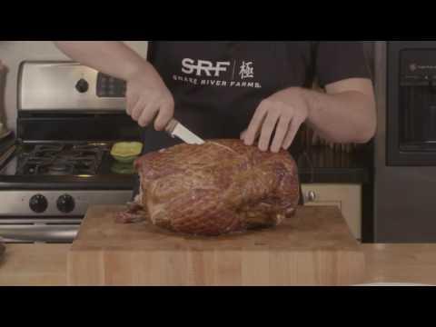 How to Carve a Snake River Farms Kurobuta Ham