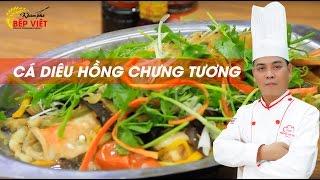 Cách nấu Cá Diêu Hồng Chưng Tương thật ngon với Chef Thái   Khám Phá Bếp Việt   Món ngon