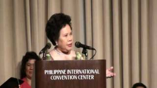 Sen. Santiago's Graduation speech at the Our Lady of Fatima University (part1/3)