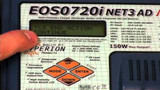 How to store & cycle a LiPo pack using the Hyperion EOS720i NET3 AC/DC Charger