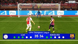 PES 2019 | Ajax vs Barcelona | Penalty Shootout | Final UEFA Champions League (UCL) | Gameplay PC