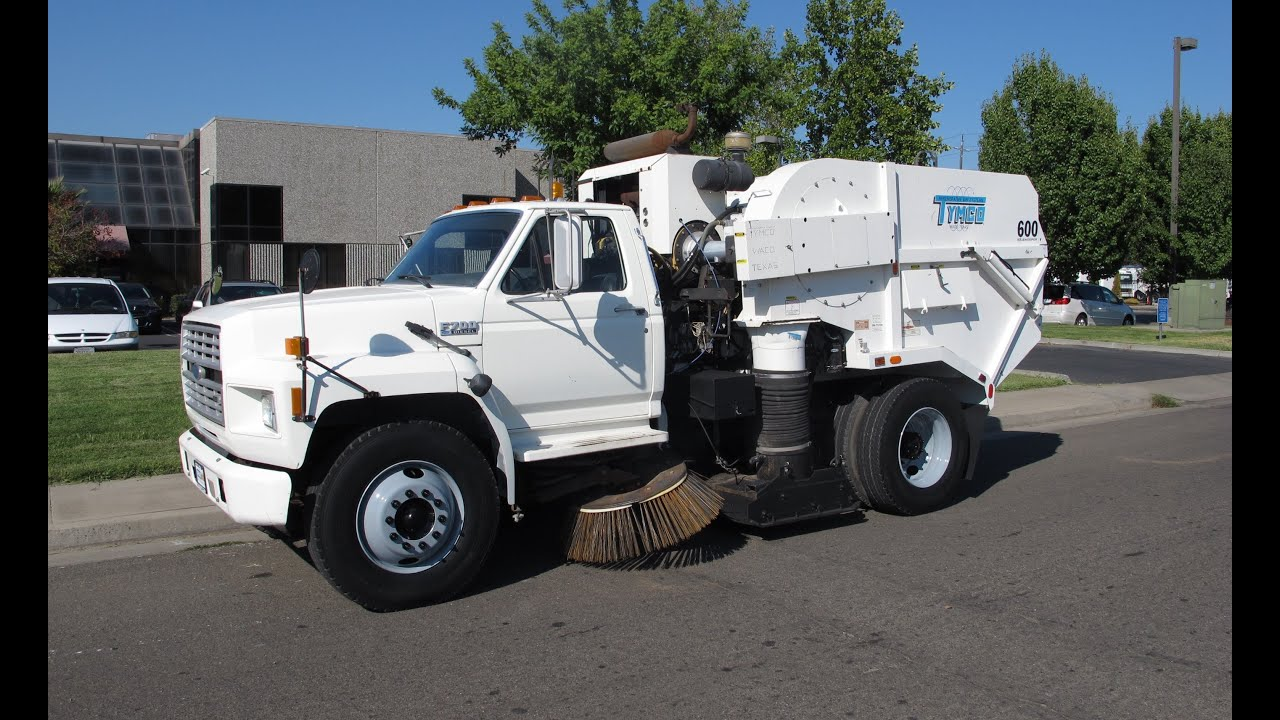 1987 Ford F700 Tymco 600 Regenerative Air Street Sweeper ...