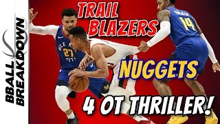 Nuggets at Trail Blazers Game 3 Classic 4 OT Thriller