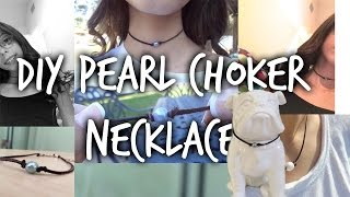 DIY pearl choker necklace