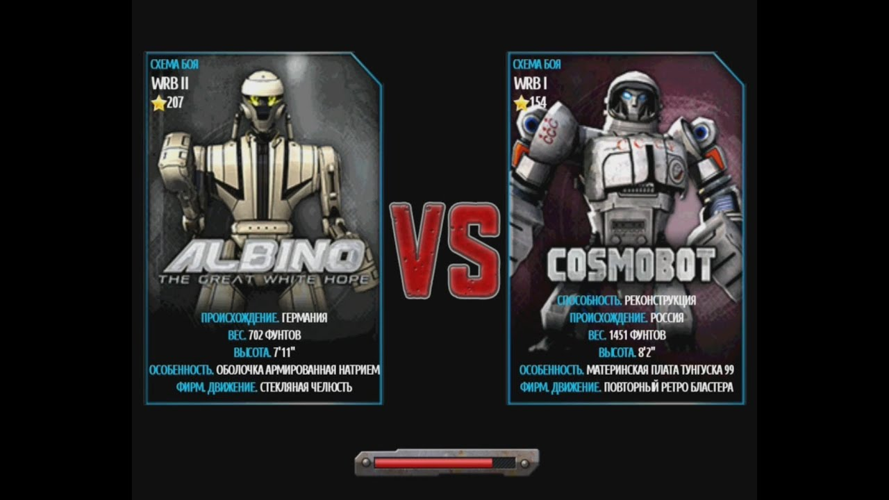 Real Steel Wrb Albino Real Steel Wrb Cosmobot vs