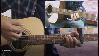 Vaaste - Dhvani Bhanushali - Hindi Guitar lesson Chords Intro Tutorial Easy Version