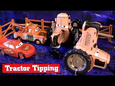 Cars Tractor Tipping Playset by DisneyStore Disney Pixar - Juguete de Coches para niños