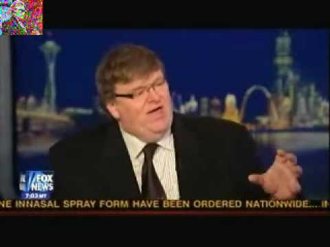 Michael Moore Confronted By Hannity About