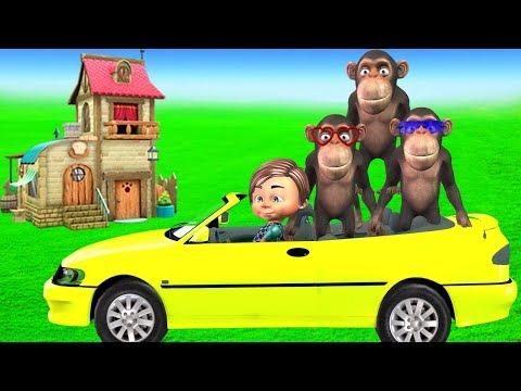 Five Little Monkeys Nursery Rhymes For Kids