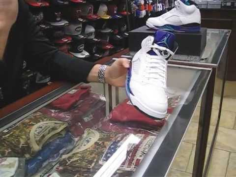 Nike Air Jordan Retro Grape 5 - at Street Gear, Hempstead NY