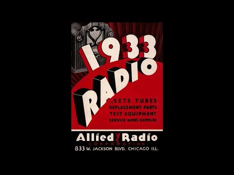 1933 Allied Radio - Radio Sets, Tubes, Replacement Parts & Test Equipment Catalog