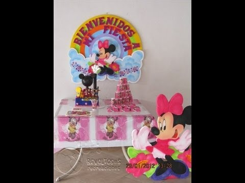 Decoracion fiesta tematica minnie mouse youtube for Lo ultimo en decoracion