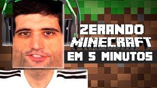 Zerando Minecraft em MENOS de 5 MINUTOS - REACT