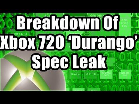 Nintendo Xbox 720 Xbox 720 Durango Specs Leaked