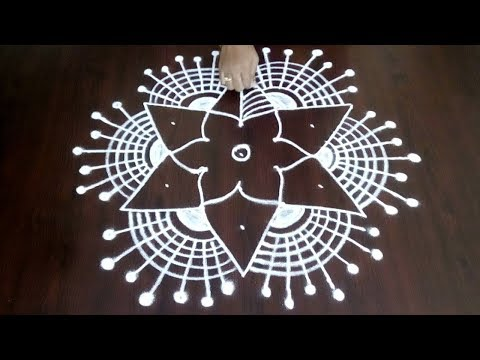 Latest 5 x 3 Rangoli Kolam Design || Easy & Simple  Creative Muggulu || Fashion World