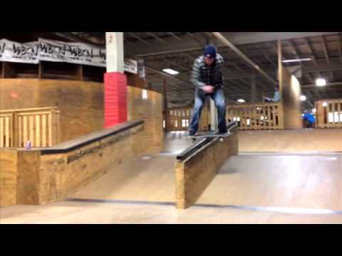 Boardslide to Feeble Downrail