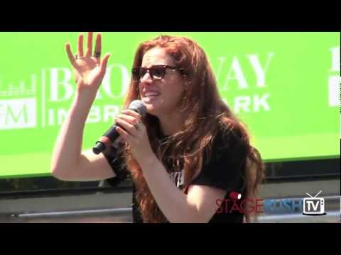 Teal Wicks sings The Wizard and I from Wicked at Broadway in Bryant Park