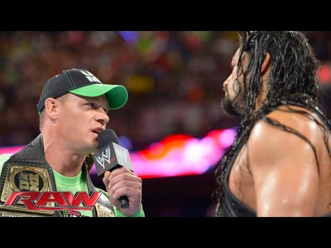 John Cena Confronts Roman Reigns: Raw, July 14, 2014 video
