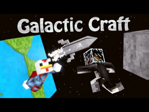 Spaceship Mod: Minecraft Galacticraft Mod Showcase!
