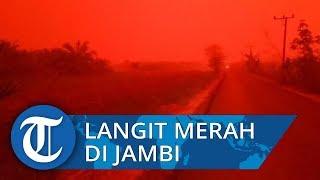 Viral Langit Merah di Muaro Jambi, Mencekam Siang Hari seperti Malam Hari