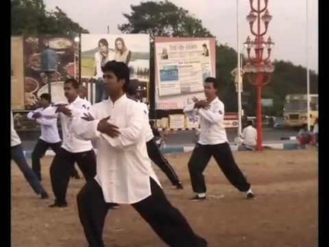 Sunrise Tai chi in Marina Beach,Chennai by Fu Sheng Yuan Taichi Academy - India Chapter 1/2