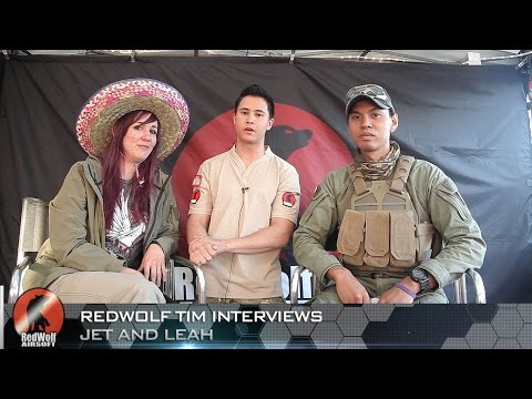 Jet Desertfox & Leah the Airsoft Unicorn Interview - RedWolf Airsoft RWTV