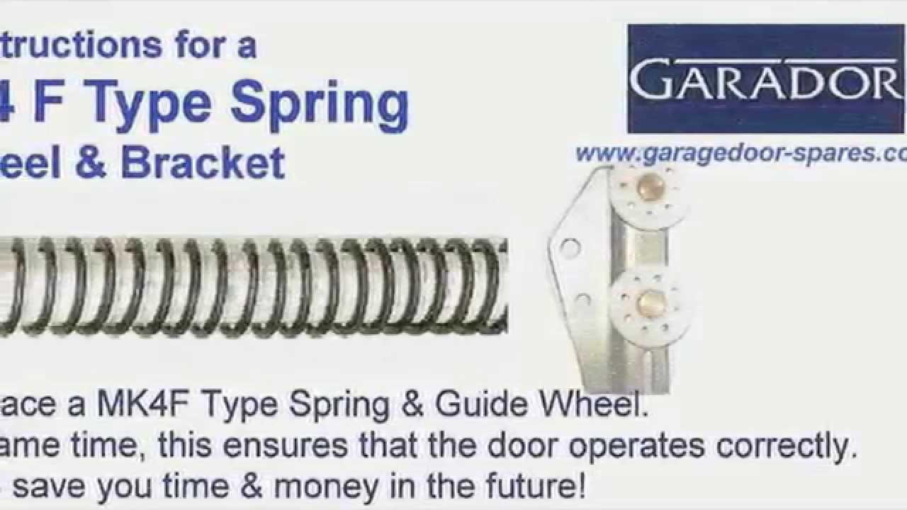 Garador Mk4f Spring And Bracket Replacement Repair