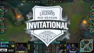 Supermassive vs Counter Logic Gaming l 2016 MSI Grup Aşaması 2.Gün l SUP vs CLG