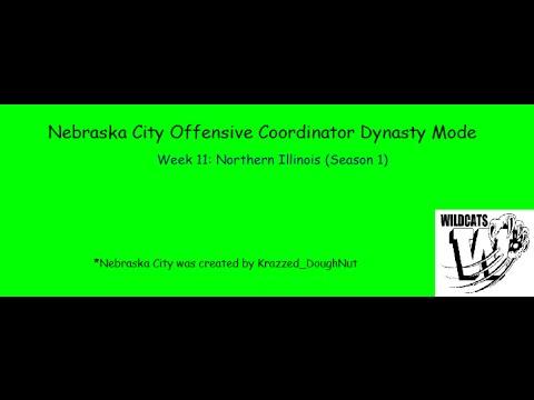 Nebraska City OC Dynasty #11: Week 11 vs Northern Illinois (Season 1)