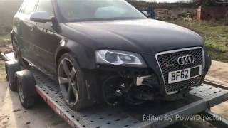 Rebuilding a SMASHED Salvage Audi RS3 I Bought *First look*