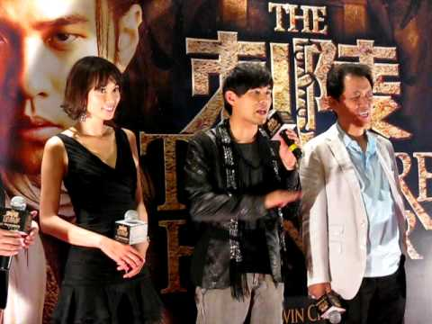 Jay Chou, Lin Chi-ling, Kevin Chu At treasure Hunter Singapore Gala Premiere video