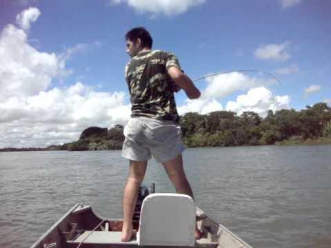 Pescaria pegando Piapara + Piau ao mesmo tempo no Rio Paranazão Castilho SP