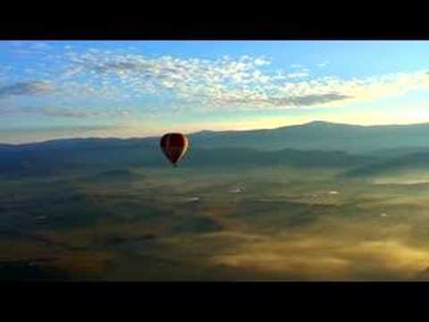 Hot Air Ballooning over the Yarra Valley near Melbourne Video