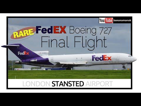 LAST FLIGHT! Boeing 727 FedEX Final Flight N269FE London Stansted Airport rare
