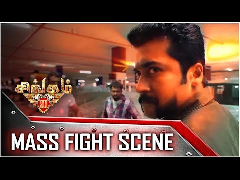 Singam 3 - Tamil Movie - Mass Fight Scene | Surya | Anushka Shetty | Harris Jayaraj