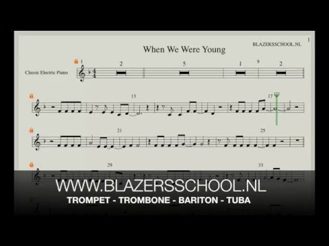 When We Were Young  Trumpet Real Trumpet Sound