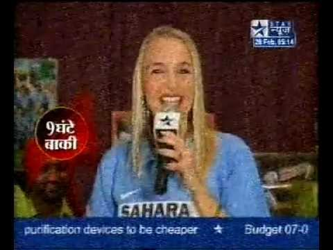 Cricket World Cup 2007 - Anita Lerche performing on Star News...