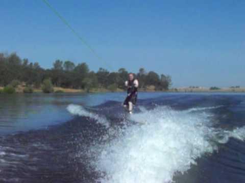 Jon wakeboarding