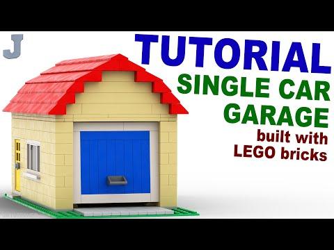 Как можно сделать из лего гараж
