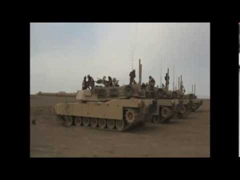 AFGHANISTAN!  M1A1 Abrams Tanks Fire Rounds to Register Gun in Helmand Province, Afghanistan!