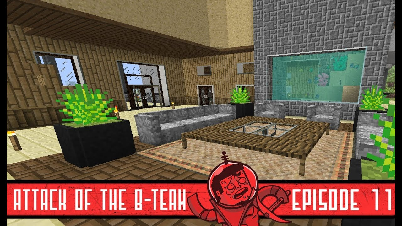 Minecraft living room with fish tank attack of the b - How to make a nice living room in minecraft ...